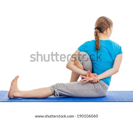 yoga twist stock photos images  pictures  shutterstock