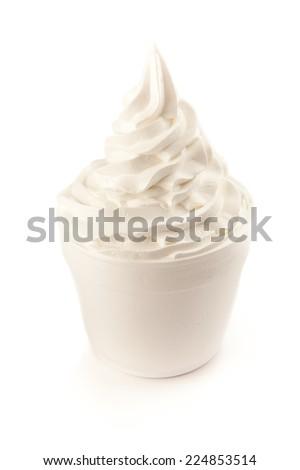 Yogurt ice cream  - stock photo