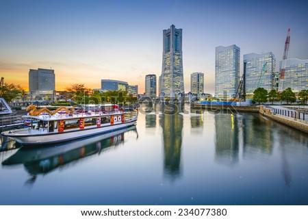 Yokohama, Japan cityscape at Minato-Mirai waterfront. - stock photo