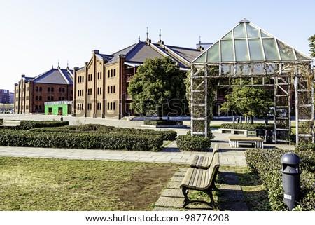 Yokohama Red Brick Warehouse - stock photo