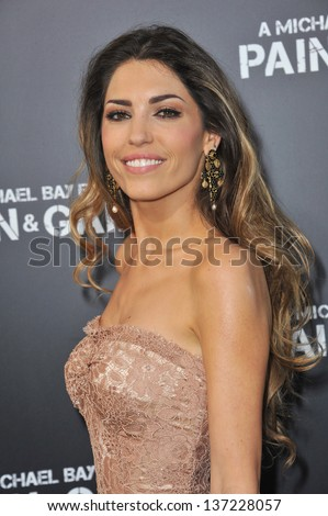 "Yolanthe Sneijder-Cabau at the Los Angeles premiere of her movie ""Pain & Gain"" at the Chinese Theatre, Hollywood. April 22, 2013  Los Angeles, CA"