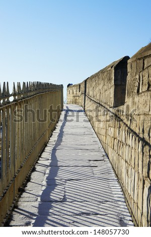 York City Wall Passage       - stock photo