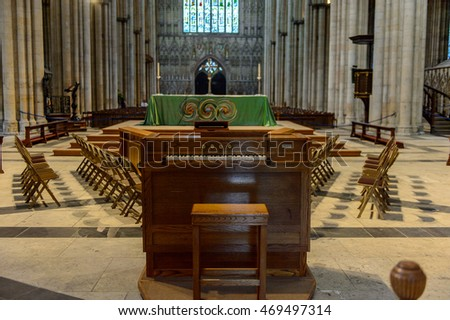 YORK, ENGLAND - july 19, 2016: York Minster (Cathedral and Metropolitical Church of Saint Peter), York, England. Listed Building â?? Grade I
