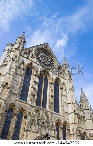 York Minster Cathedral - one of the largest of it's kind in Northern Europe.