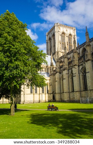 York Minster Cathedral ,York, England,  20 June, 2015 - stock photo