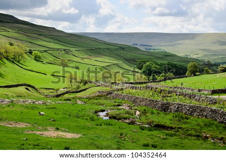 Yorkshire Dale's landscape. - stock photo