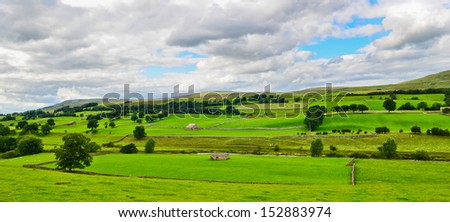Yorkshire Dales landscape - stock photo
