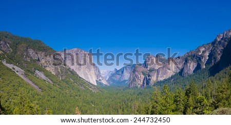 Yosemite as seen from Tunnel Point  - stock photo