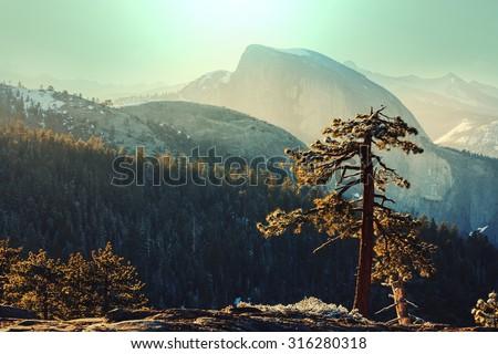 Yosemite landscapes - stock photo