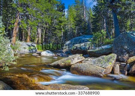 Yosemite National Park in California State. USA. Horizontal Image Composition - stock photo
