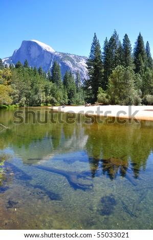 Yosemite national park view - stock photo