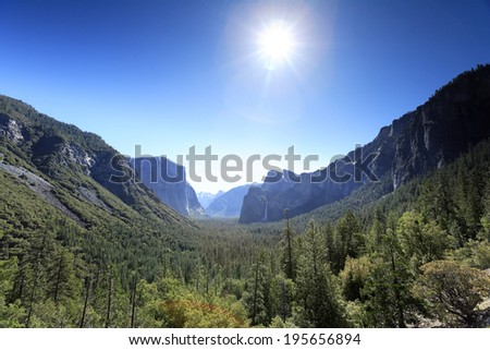 Yosemite valley, Yosemite national park, USA - stock photo