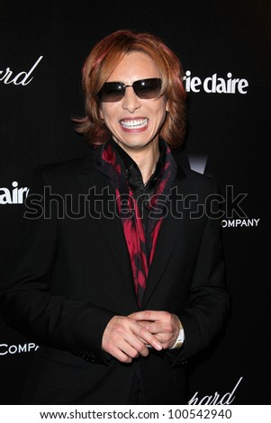 Yoshiki at the Weinstein Company's 2012 Golden Globe After Party, Beverly Hiltron Hotel, Beverly Hills, CA 01-15-12