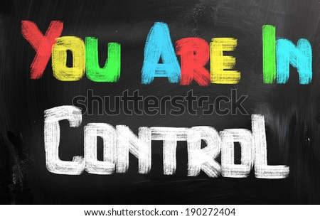 You Are In Control Concept - stock photo