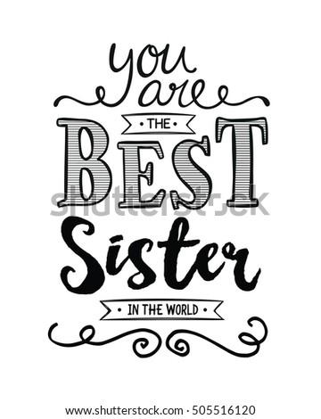 you best sister world typography art stock illustration 505516120 rh shutterstock com