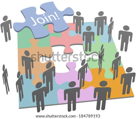 You are the missing piece in social or business company group of people to join