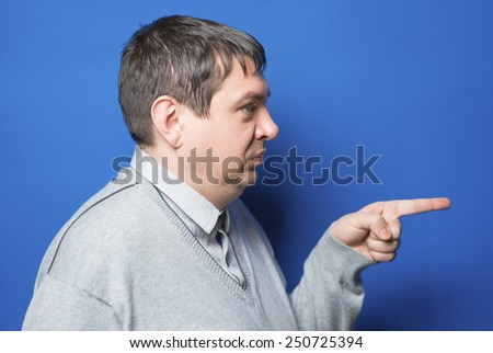 You ! Hand finger pointing. - stock photo