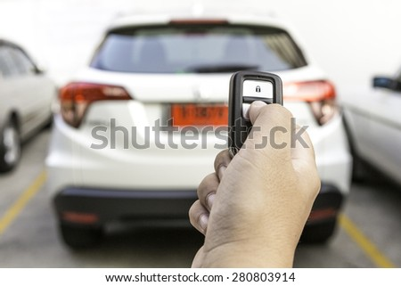 You have a new car as a prize - stock photo