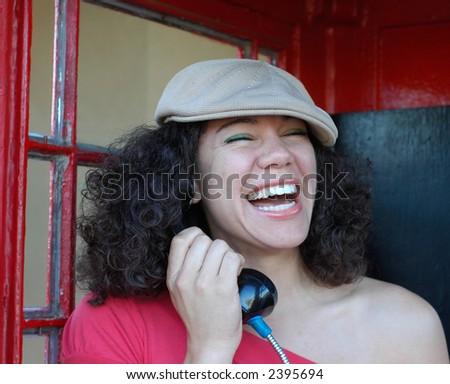 You so CRAZY!  You make me laugh! - stock photo