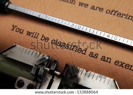You will be classified - stock photo