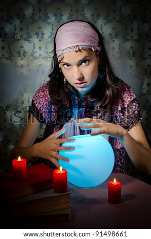 YounBianca g woman playing fortune-teller