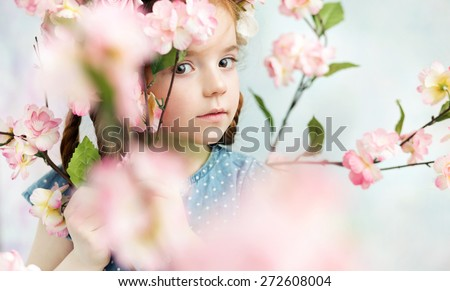 Young adorable girl - stock photo