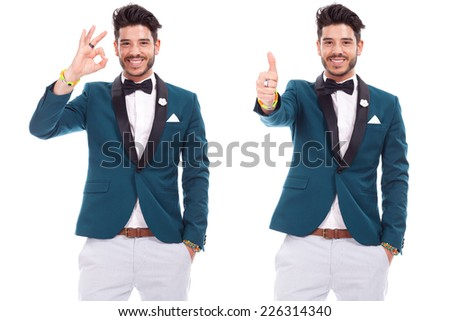 young adult dressed up with smile