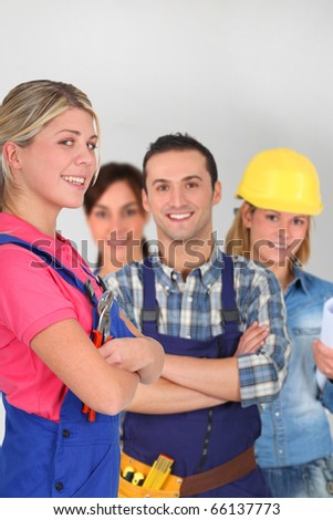Young adults on business training - stock photo