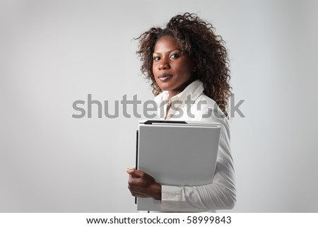 Young african businesswoman - stock photo