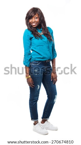 young african woman - stock photo