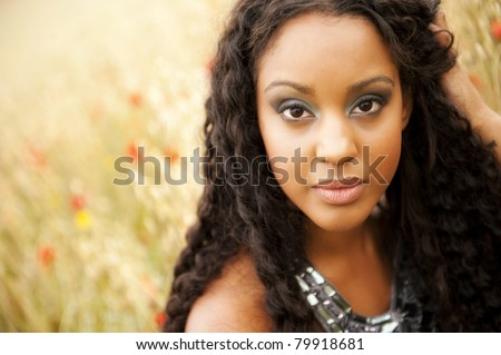 Young african woman portrait - stock photo