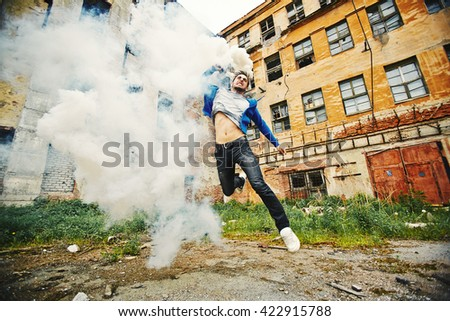 Young anarchist - stock photo