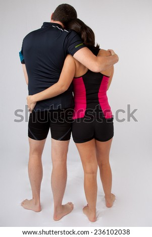 young and athletic couple