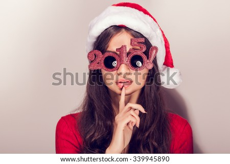 Young and attractive girl with Christmas