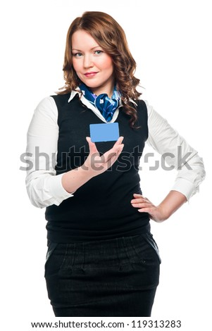 young and beautiful business woman with credit card
