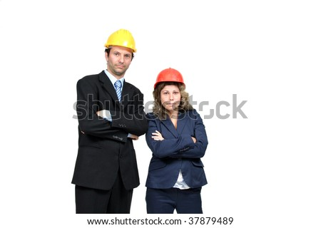 young and beautiful female architect - stock photo