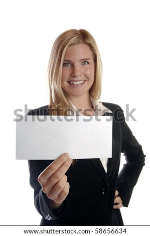 Young and energetic business woman smiles as she talks on her cell phone. - stock photo