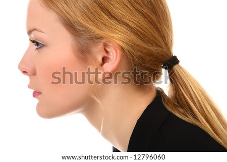 Young and good  looking business woman. profile of a beautiful  young woman