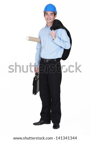 Young architect. - stock photo
