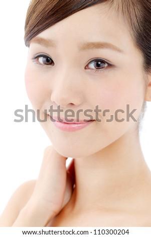 young asian beautiful woman - stock photo