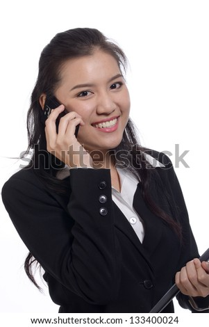 Young asian business - stock photo