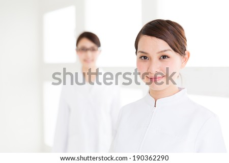 young asian doctors in the hospital - stock photo