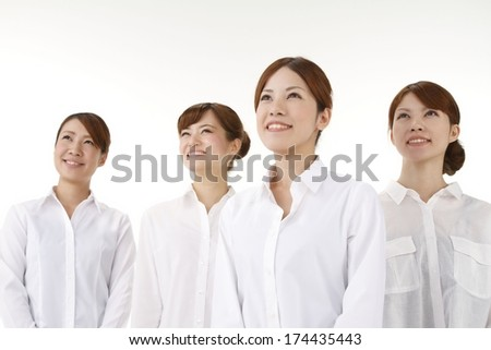 Young Asian Four women