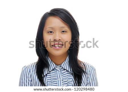 Young asian lady wearing a shirt