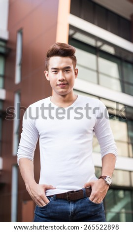 Young Asian man life style - stock photo