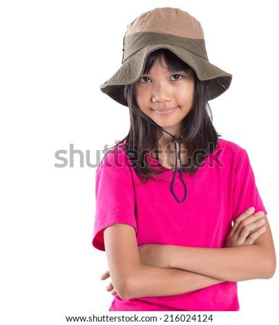 Preteen Girl Gray Posing Stock Photos, Illustrations, and Vector Art