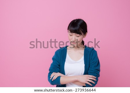 young asian woman - stock photo