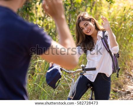 Girl Saying Bye