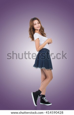 Young Asian woman, portrait at studio.