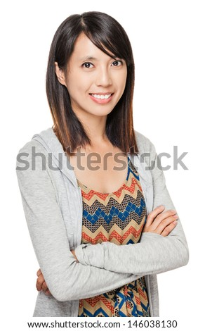 Young asian woman smile - stock photo